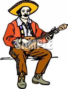 Mexican Man Playing Guitar.