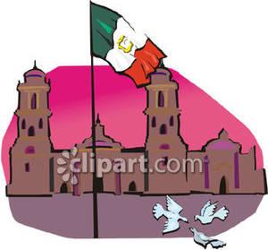 Falg In Mexico.