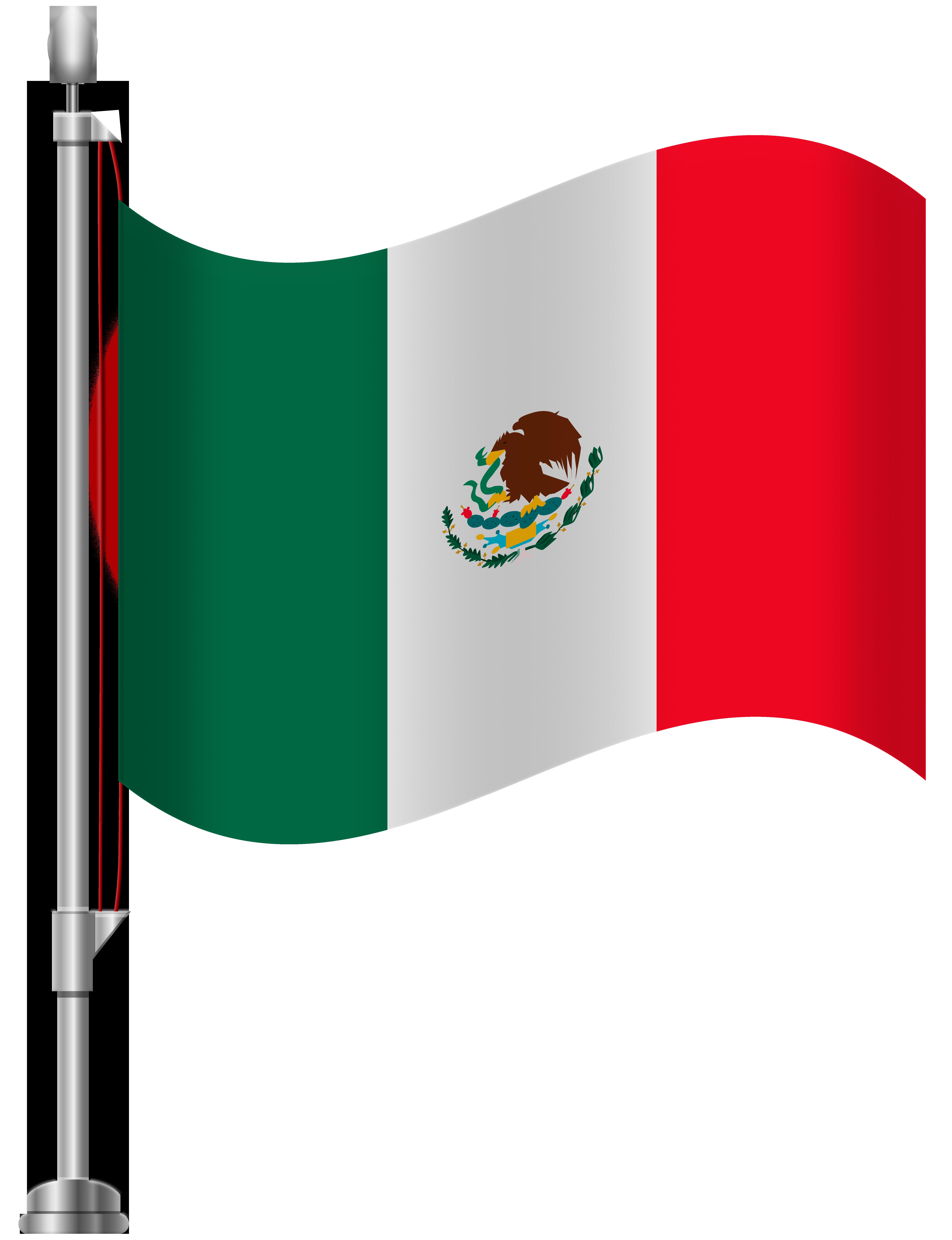 Mexico Flag PNG Clip Art.