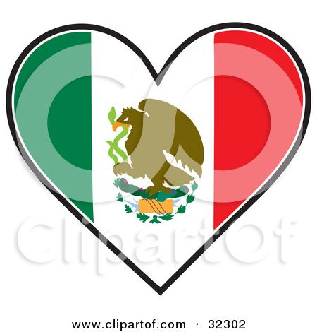 Wavy Mexico Flag · Clipart.