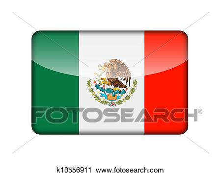 The Mexican flag Clip Art.