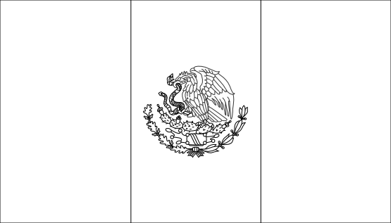 Free Mexican Flag Black And White, Download Free Clip Art.