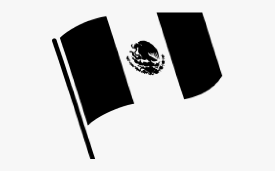 Mexican Flag Black And White.