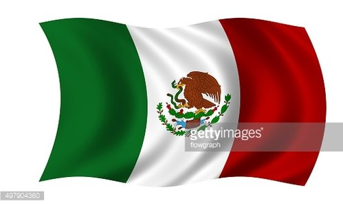waving mexican flag Clipart Image.