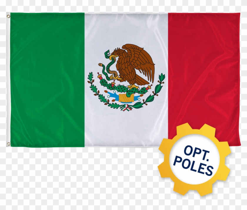 Mexico Flag W/ Optional Flagpole.