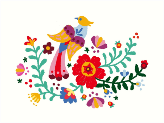 Mexican flowers png clipart » PNG Image.