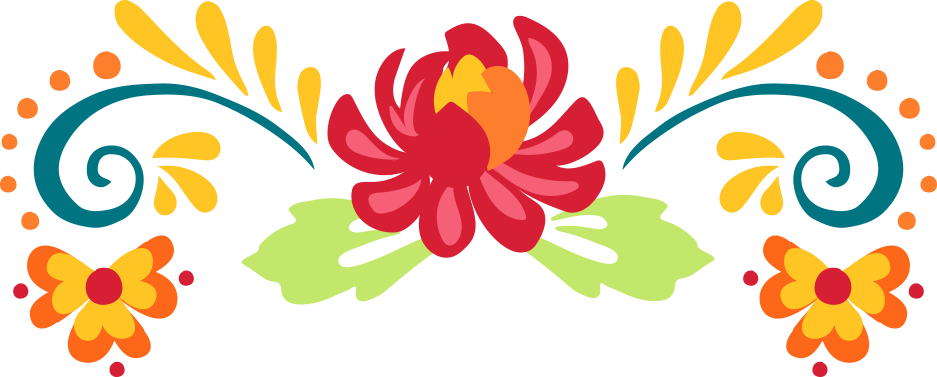 Mexican Paper Flowers Clipart.
