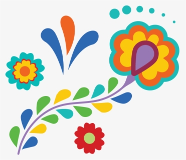 Free Mexican Flowers Clip Art with No Background.