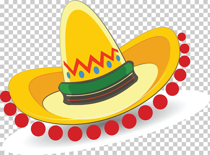 Sombrero Hat , mexican, yellow sombrero illustration PNG.