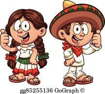 Mexican Girl Clip Art.