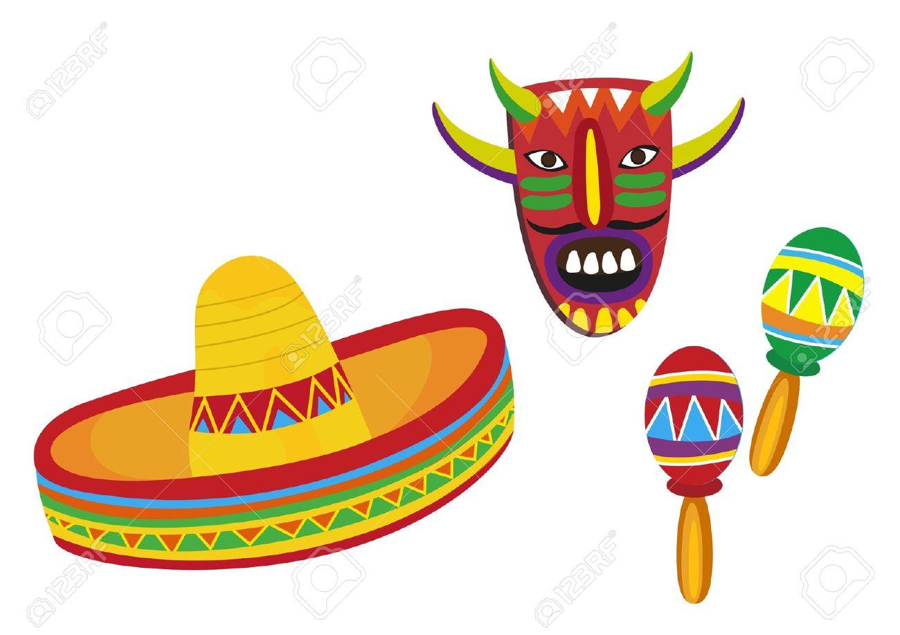 Mexican Hat Clip Art.