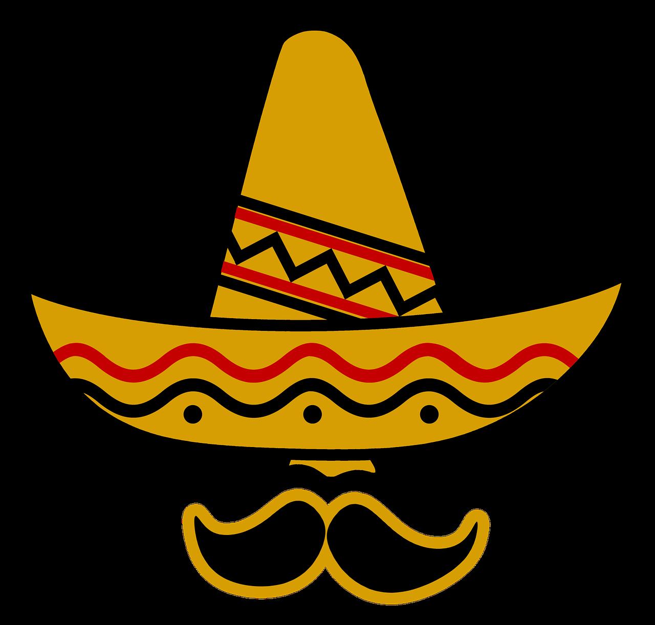 Sombrero Hat Mexico Bart Deep PNG.