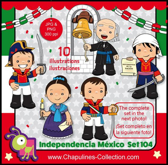 60% off Mexican Independence clip art, Heroes, Mexico clipart kids, school,  kids illustrations, fiesta, mexican national holiday set 104.