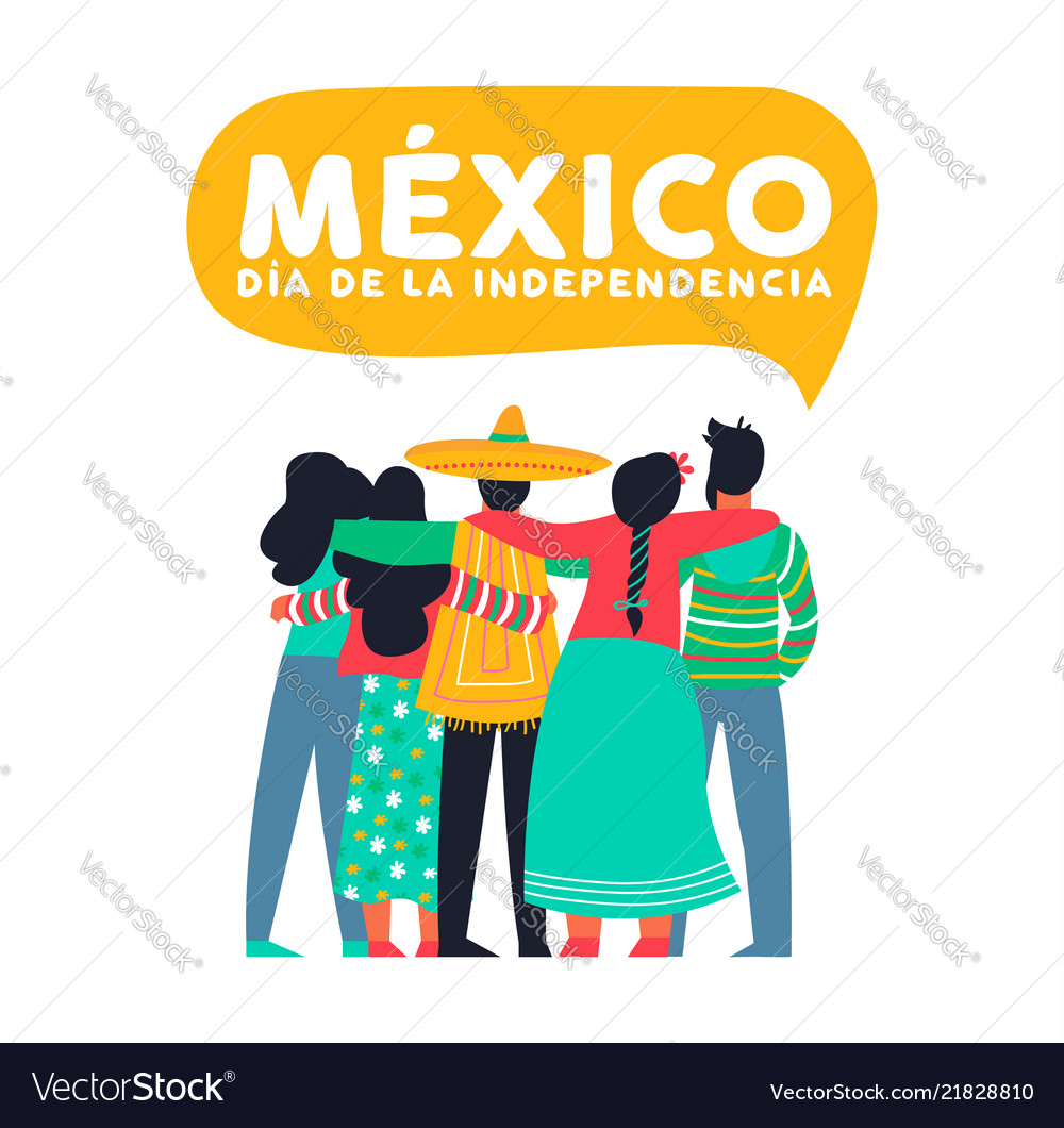 Mexico independence day card of mexican friends.