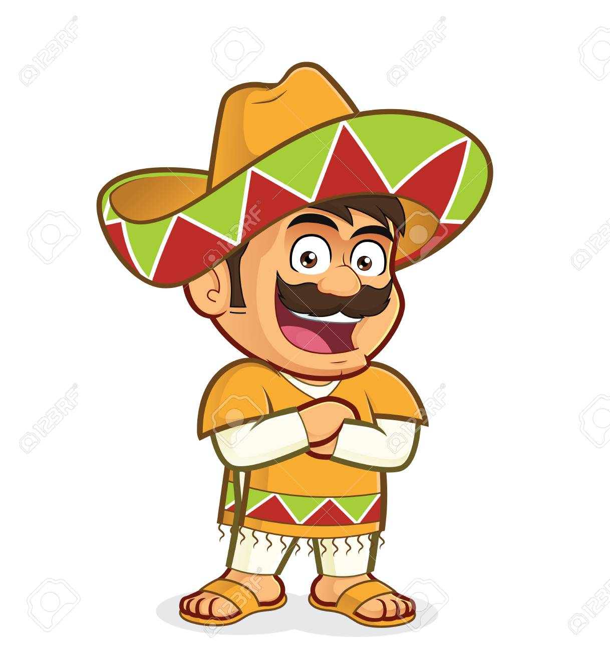 Mexican man with folded hands.