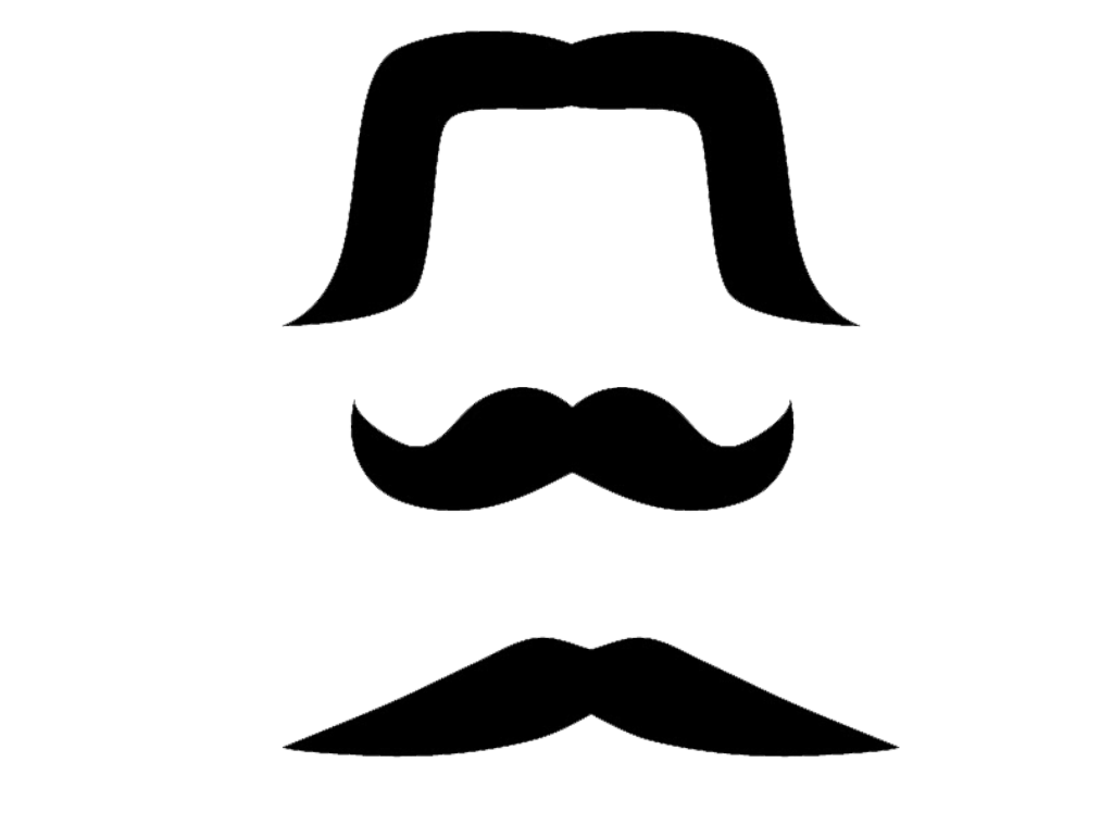Mexican Mustaches Clip Art Transparent Background.