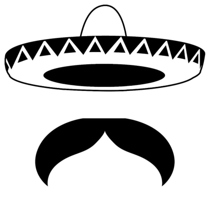 Mexican mustache ideas on diy cliparts.