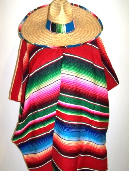 Authentic Mexican Poncho.