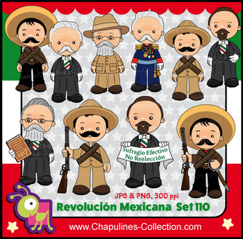Mexican Revolution Day Clipart, México clipart, Revolución Mexicana Set 110.