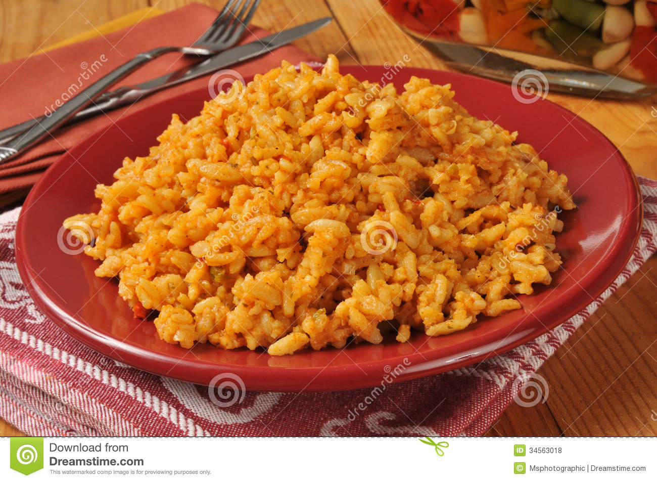 Mexican Rice stock photo. Image of rice, horizontal, plate.
