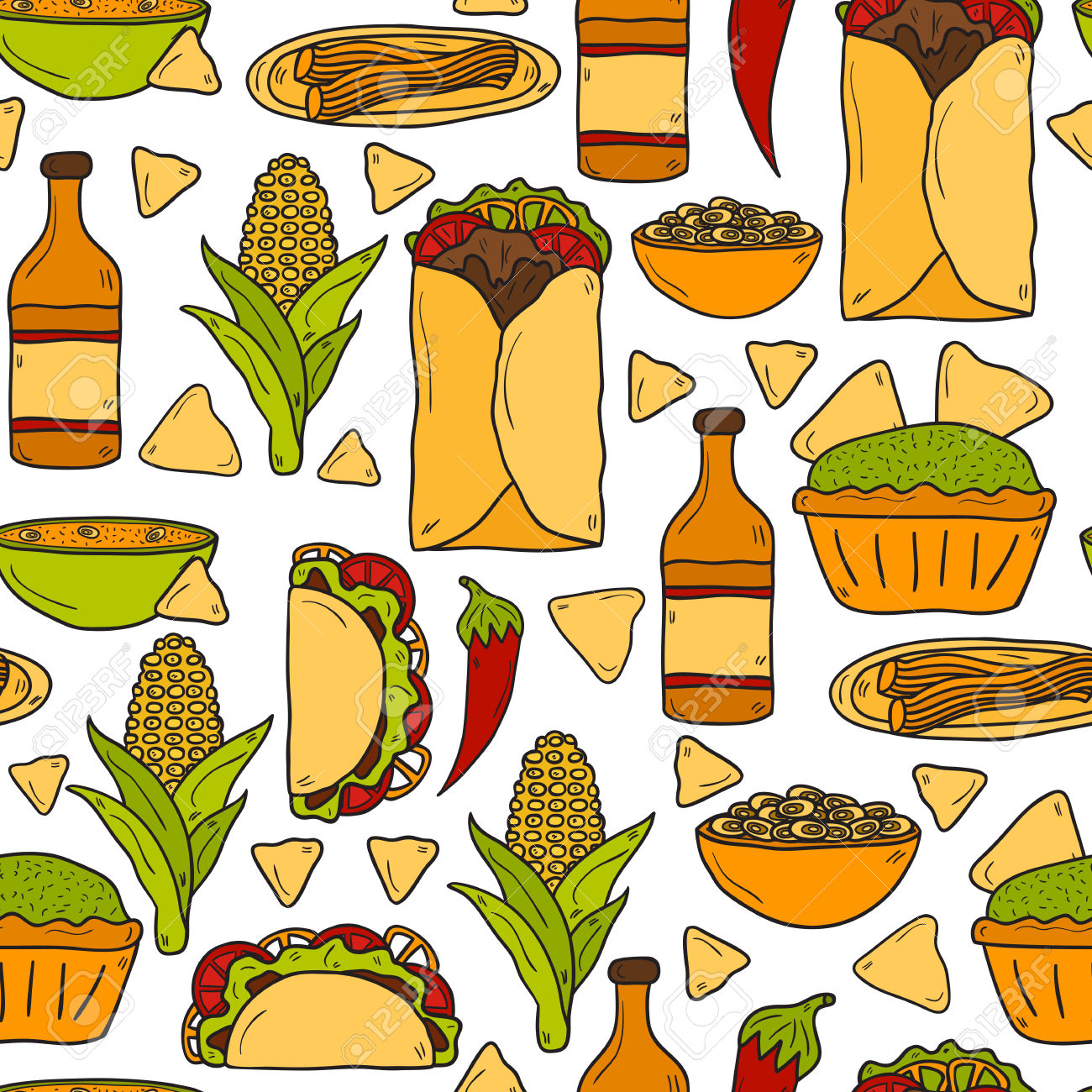 Mexican rice food clipart.