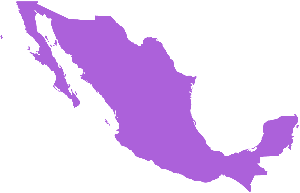 Mexico Map silhouette.