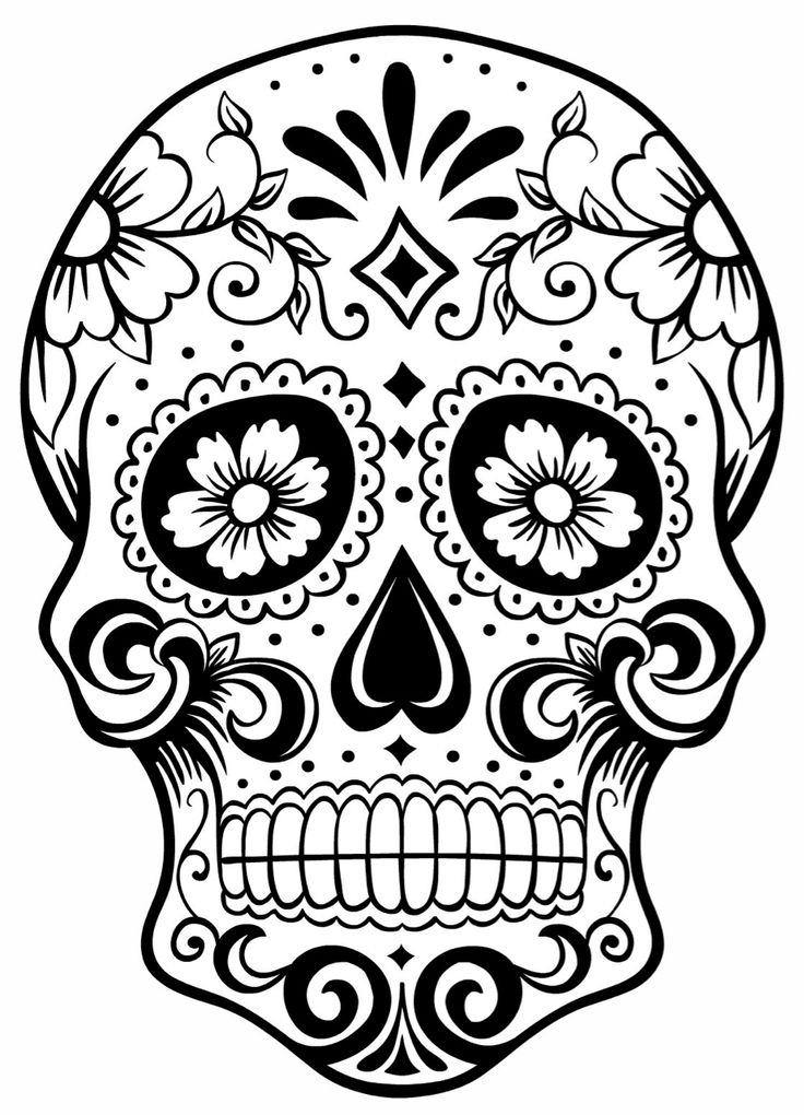 Free Sugar Skull Transparent Background, Download Free Clip.