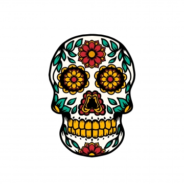 Sugar Skull Png, Vector, PSD, and Clipart With Transparent.