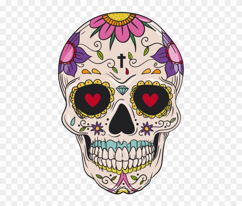 And Cuisine Mexican Skull Calavera Idea Pattern Clipart.