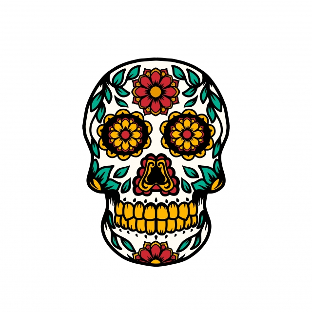 Sugar Skull, Dead, Holiday, Death PNG and Vector with.