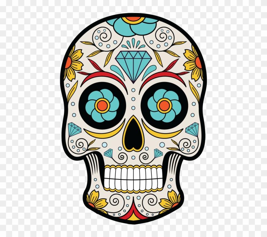 Sugar Skull Clipart Mexican Skull.
