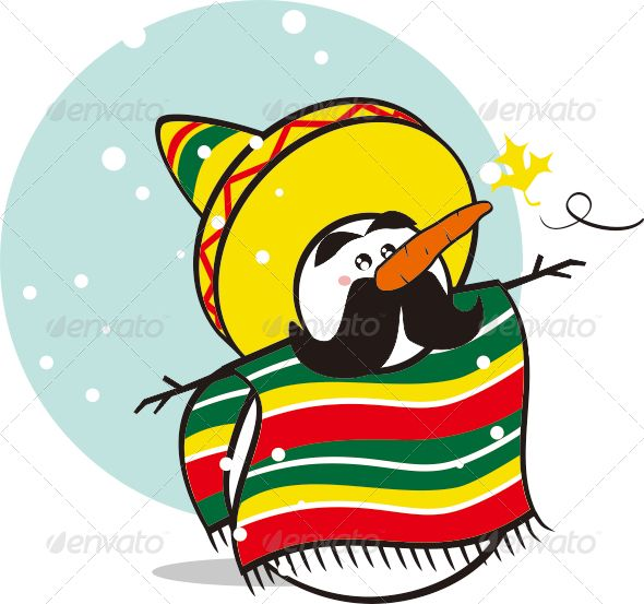 Mexican Snowman #graphicriver.