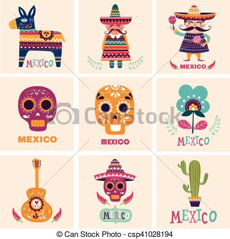 Mexican symbols.