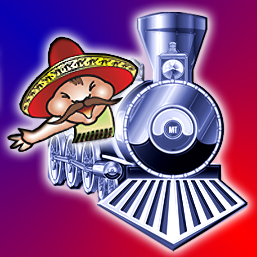 Mexican Train Dominoes Clipart.