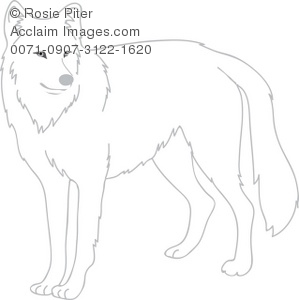 Snow wolf clipart.