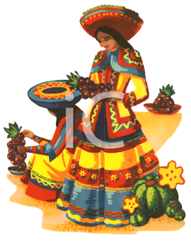 Traditional Mexican Woman.