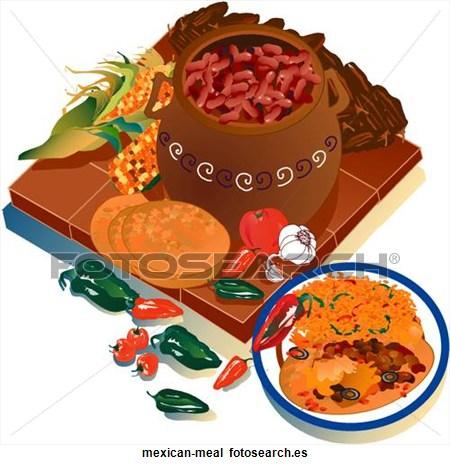 Comida Mexicana Clipart.