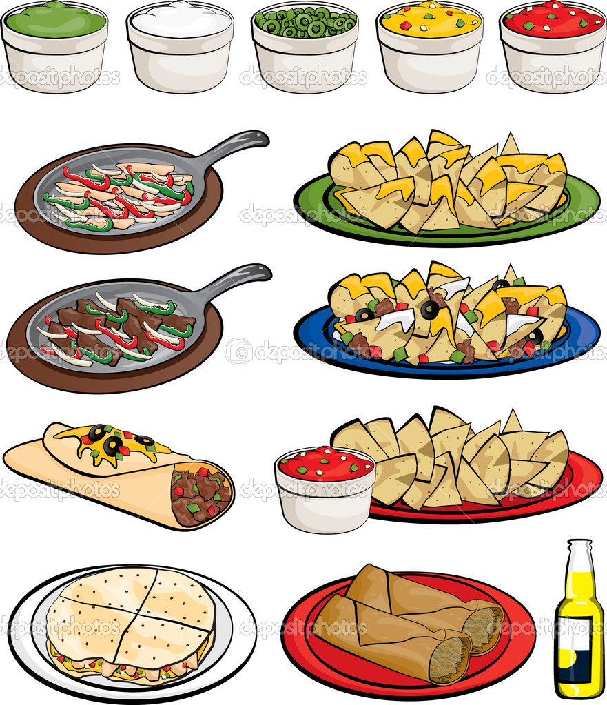 Mexicana food clipart.