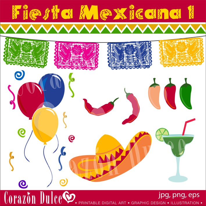 INSTANT DOWNLOAD Fiesta Mexicana 1 Personal and Commercial.