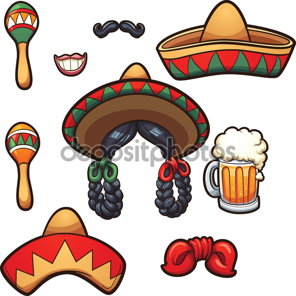 Mexican party props — Stock Vector © memoangeles #99030992.