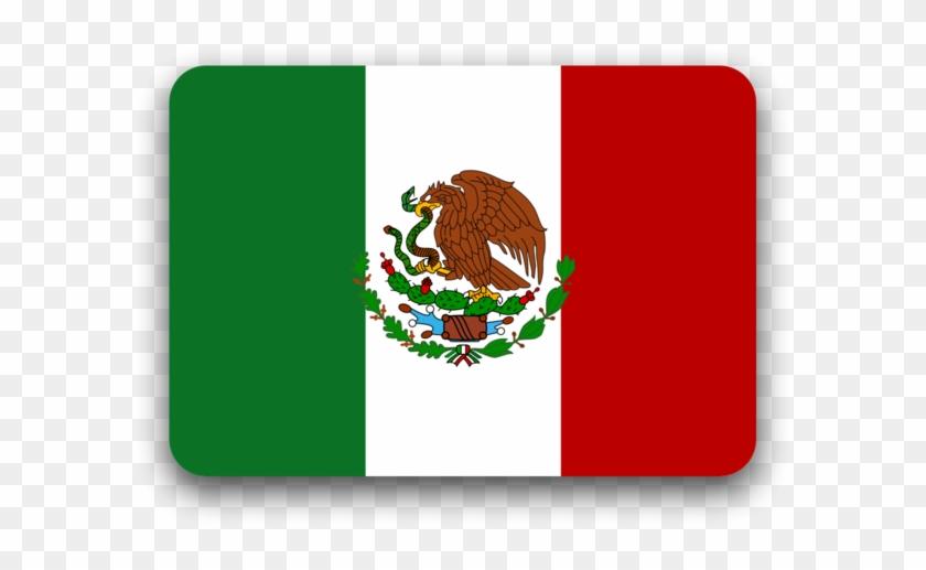 Bandera De México, Flat Style.