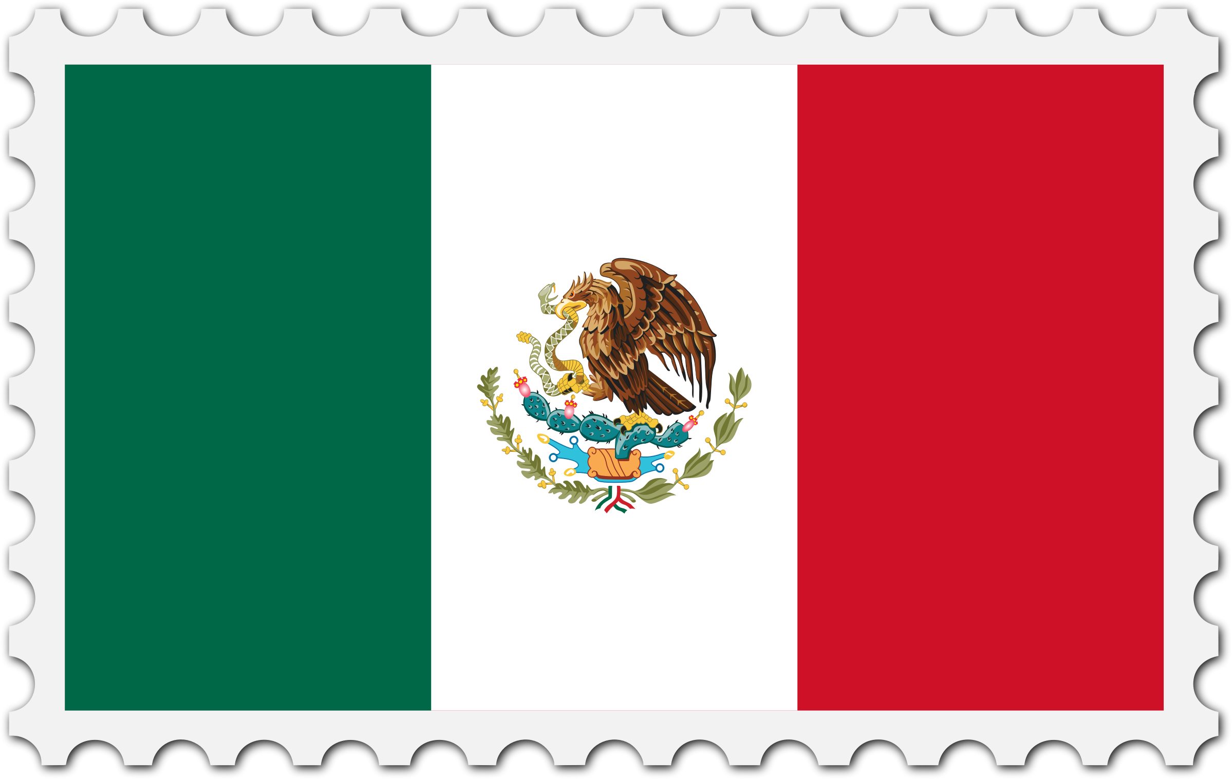 Flag of Mexico Bandera de Mexico / Mexican Flag United.