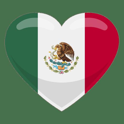 Mexico heart flag.