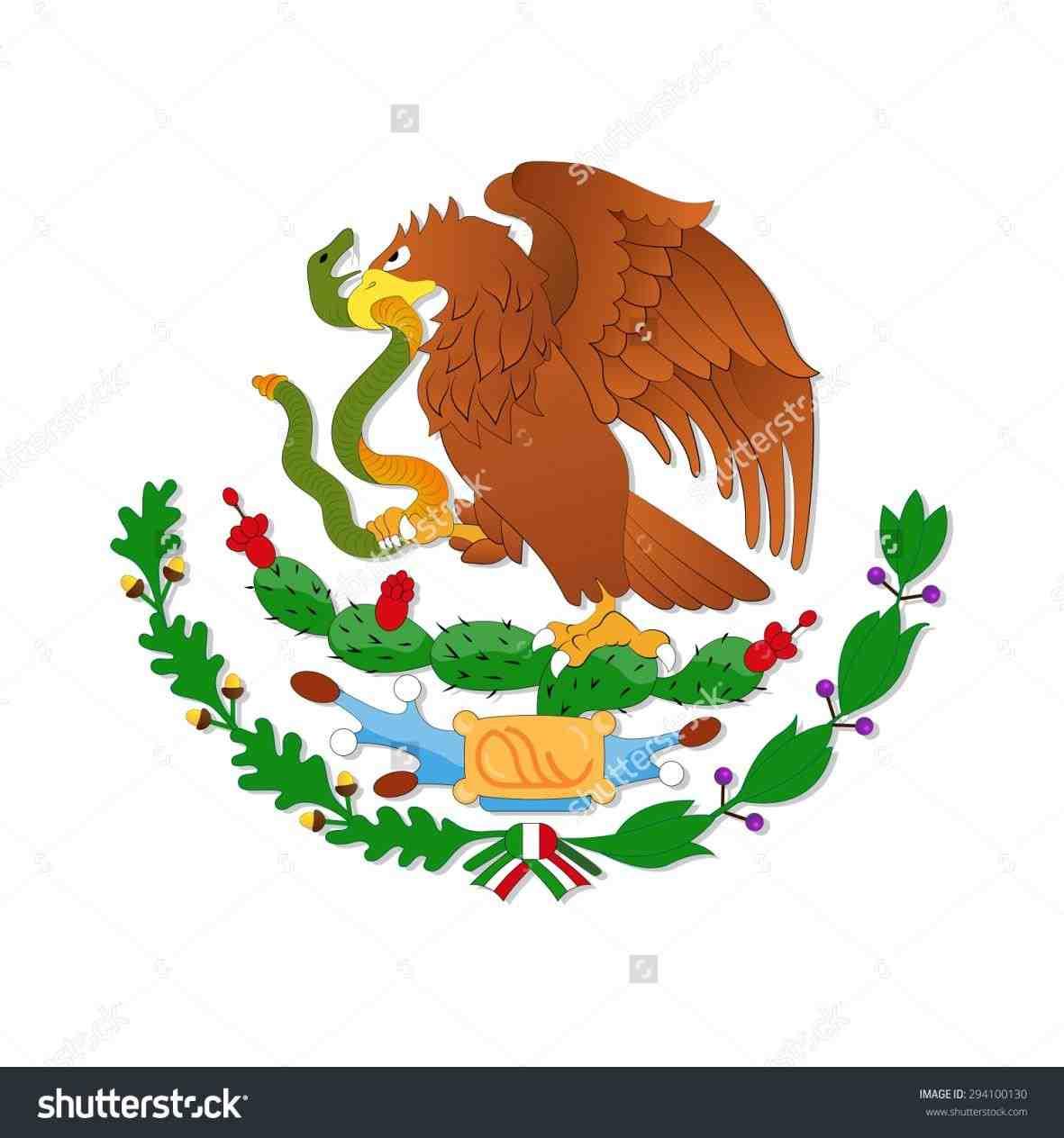 Mexican Flag Eagle Clipart.