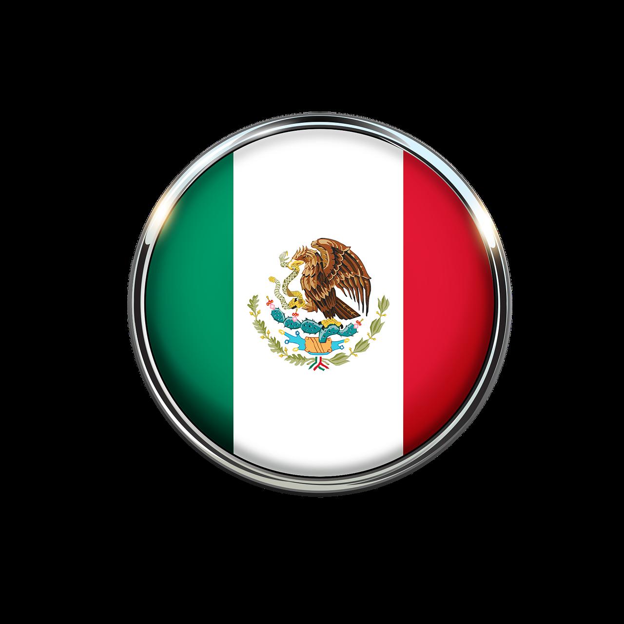 Mexico Flag Circle Mexican Flag PNG.