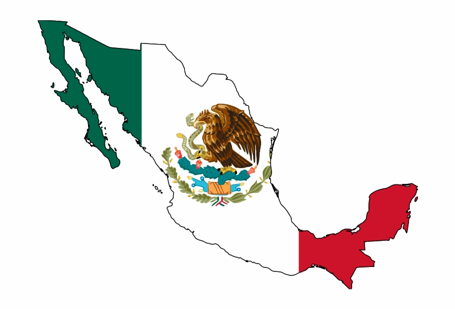 Mexico Map With Flag Free PNG Images & Clipart Download.