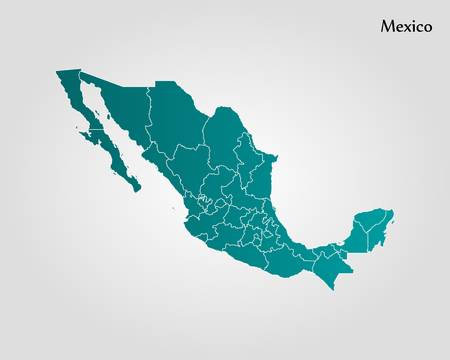 7,914 Mexico Map Stock Vector Illustration And Royalty Free.