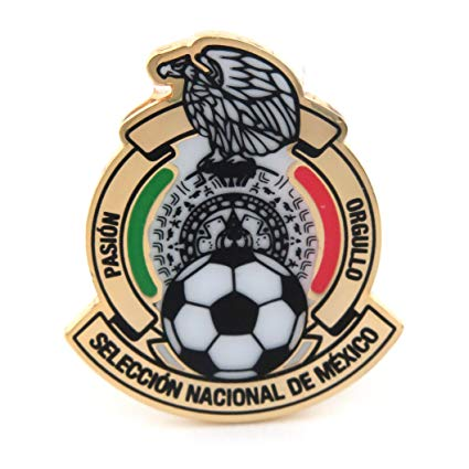 JF Sports Canada International Soccer Mexico National Team Primary Logo  Pin, Small, Multicolor.