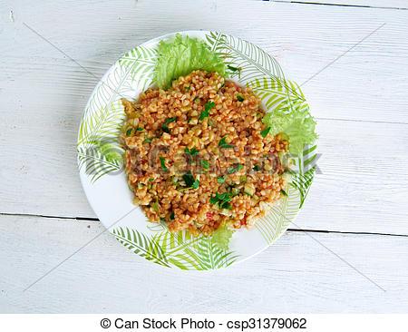 Stock Image of K?s?r.bulgur salad or meze.