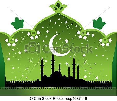 Clip Art de vectores de mezquita.